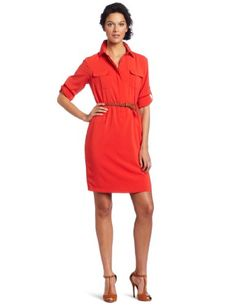 Calvin Klein button front dress