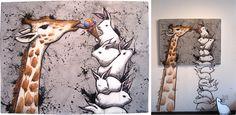 """Allowance"" full view + gallery presentation | Max Neutra @ CAVE Gallery (2012) | via cat·ty·wam·pus·kat"