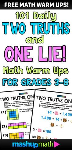 Looking for some fun math warm activities for grade grade grade grade grade or grade. Then check out these fun visual and printable math warm-up or cool down exit ticket activities (bell work). Sixth Grade Math, Fourth Grade Math, 4th Grade Math Games, Math For Grade 5, 6th Grade Activities, Fun Math Activities, Fifth Grade, Mathematics For Grade 3, Daily 5 Grade 4