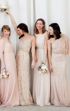 587f054a0af Blush bridesmaids- bridesmaids choose their own dress  What do you guys  think