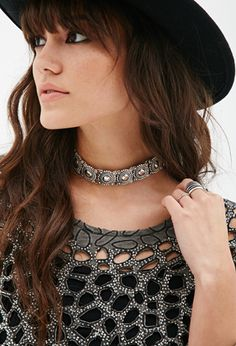 Etched Medallion Choker | FOREVER21 - 1000054482