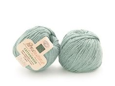 """Fibra Natura Cottonwood is 100% Organic Cotton, so not only is it the perfect lightweight yarn for summer, it is also environmentally friendly and an absolutely gorgeous color that will look great against sunkissed skin! Click the image to get a skein for 36% off before we run out and click """"Repin"""" if you love this color as much as we do! #knitting #yarndeal"""