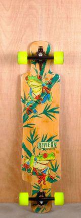 "Riviera Prebuilt 40"" La Rana Drop Through Longboard Bottom"