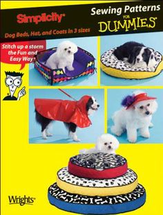 Dog Bed Coat Sewing Pattern - Dogs Pets Beds And Coats - Oop
