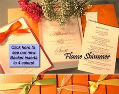 Amazon.com: Pocket Folder Invitation Kit - Flame Orange Shimmer - Pack of 20: Office Products