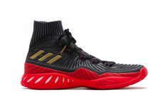"""sneakers for cheap 07b7f 2d3f2 adidas Introduces the Crazy Explosive 2017 Primeknit in """"Core BlackScarlet"""""""