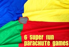 6 Fun Parchute Games for Kids 6 Parachute Games: Outdoor Games for Kids; Great ideas for using our parachute! Gross Motor Activities, Gross Motor Skills, Activity Games, Preschool Activities, Physical Activities, Preschool Boards, Movement Activities, Parachute Games For Kids, Outdoor Games For Kids