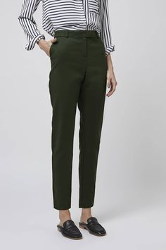 Tab Detail Cigarette Trousers - Trousers & Leggings - Clothing