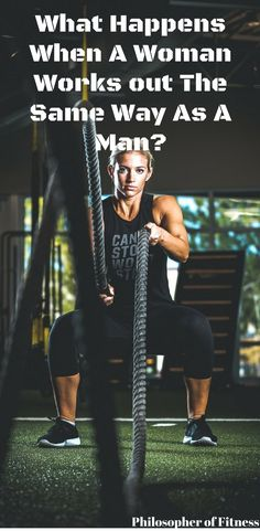 Check out what happens when a woman works out the same way as a man!