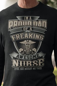 Proud OB Nurse Tee Shirt Cool Long Sleeve Shirt