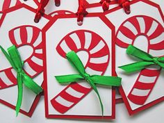 Candy Cane Christmas Tags Christmas Gift Tags by DreamsByTheRiver