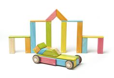 BRAND NEW! 42 Piece Tegu Magnetic Wooden Block Set, Tints