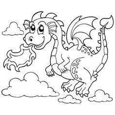 Dragon coloring sheet... like the heart tail for a v-day
