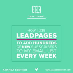 If you haven't yet invested in LeadPages, consider yourself warned. Email Marketing Strategy, Business Marketing, Content Marketing, Affiliate Marketing, Internet Marketing, Business Tips, Online Business, Marketing Ideas, Ems