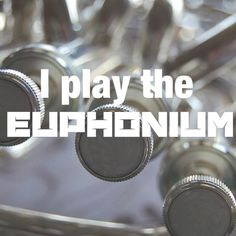 I play the euphonium