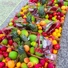 DON'T BE EYE CANDY, BE SOUL FOOD. 🙏✌️🍇🍉🍓🍍🍋💓😘  An amazing fruit-filled rainbow day at www.rawfullyorganic.com Snapchat: FullyRaw 💖