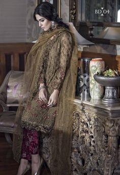 Maria B Swarovski Chiffon Suit