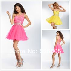 2014 New Sexy One Shoulder Above Knee Cocktail Dresses TB-9262 $149.00