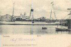 Constanta harbour ship steamer houseboat