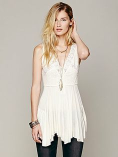 Free People FP X Corset Cover Tunic