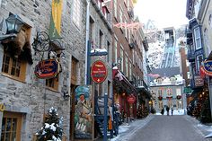 Quebec City in Canada is a lovely, historic city; all the charm of a French village without the plane ride!