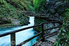 A walk in through the Vintgar Gorge, near Bled, Slovenia (Slovenia-Walking site)