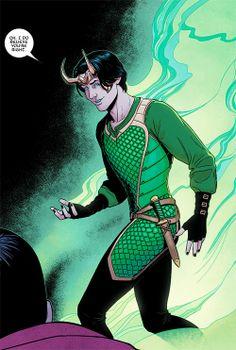 Kid Loki all grown up! As designed by Jamie McKelvie