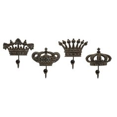 IMAX Regent's Crown Hook (Set of Four): I'd use this somewhere...