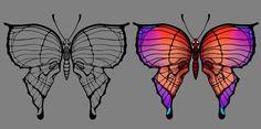 butterfly skull tattoo - Google Search