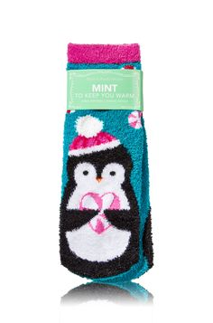 Bath and Body Works Penguin Design Mint To Keep You Warm Shea-Infused Lounge Socks Bath Body Works, Frugal Christmas, Christmas Gifts, Christmas Things, Turtle Birthday, Turtle Party, Girl Birthday, Birthday Parties, Penguin Love