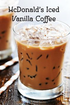 Enjoy this classic McDonalds McCafe Iced Vanilla Coffee today.  This recipe is so easy to make.