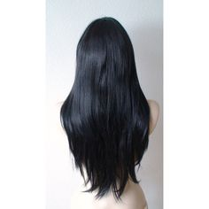 Spring Special Black wig. Long straight hair wig. lack hair wig. ($80) ❤ liked on Polyvore featuring beauty products, haircare, hair styling tools, hair, black hair care and black haircare