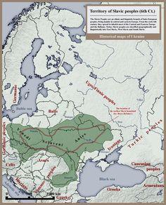 Slavic peoples 6th century historical map - Ukraine — Wikipédia