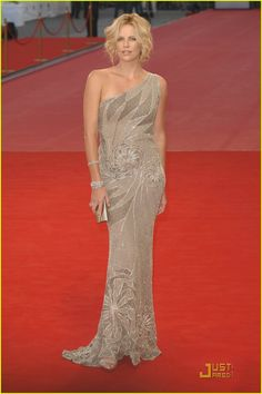 Charlize Theron... She could go down the red carpet in a paper bag and look amazing!