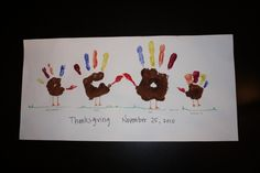 Hand turkey family craft