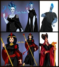 Disney Lady Hades and Lady Jafar (close up) by LadyRaw90 on DeviantArt