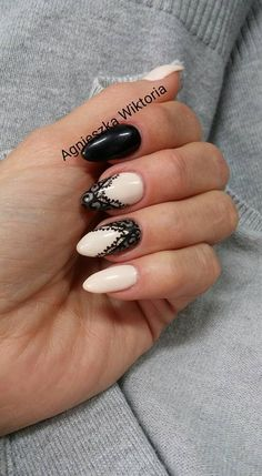 Agnieszka Wiktoria paznokcie koronka nude Mani Pedi, Design Trends, Nail Designs, Make Up, Polish, Nail Art, Nails, Grey Matte Nails, Finger Nails