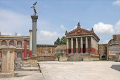 The ancient Rome set at Cinecittà Studios in Rome.