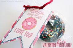 Donut Valentine Free Printable I Heart Nap Time | I Heart Nap Time - Easy recipes, DIY crafts, Homemaking