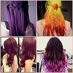 Hair Highlights, Burgundy, Hair Color, Long Hair Styles, Red, Beauty, Colour, Beleza, Highlights For Hair