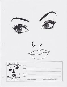 Blank Face Charts - Non-MAC