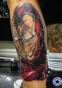 Iron man tattoo  Self done by Blacky  Blacky's tattoo studio