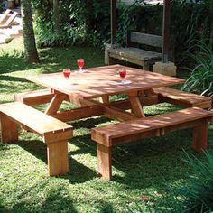 Picnic table....I like it square!!                                                                                                                                                                                 More
