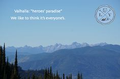 """Valhalla Provincial Park - less than an hours drive and a little boat trip from Logden Lodge... Ready to start """"living the nature of things""""? 