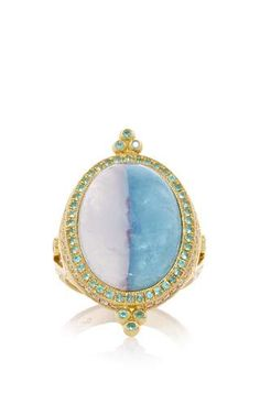 One of a kind divided sky paraiba ring   by ERICA COURTNEY Preorder Now on Moda Operandi