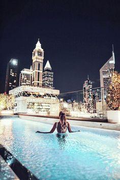 Night swims in Dubai,