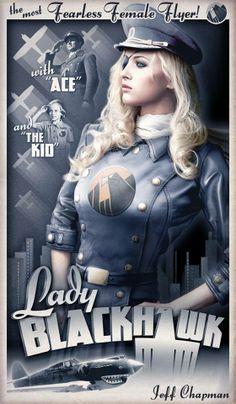 Dieselpunk !  Lady BlackHawk by ~Jeffach