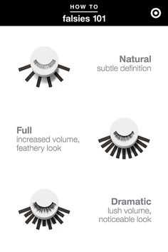 From natural to full to dramatic, there's endless ways to rock false lashes. Find your perfect pair.