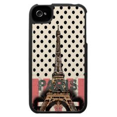 Paris Eiffel Tower Abstract iPhone 4/4S Case. Compatible with Verizon, Sprint, and AT models of the iPhone 4/4S, our universal custom iPhone 4/4S cases offer the perfect fit for your phone no matter your carrier.