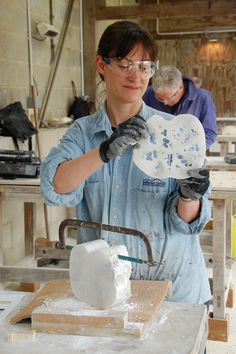 Spirals and shells - stone carving NEW - Paula Haughney https://www.westdean.org.uk/study/short-courses